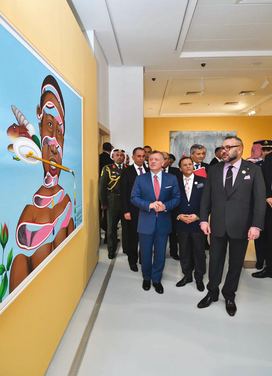 S.M. le Roi Mohammed VI, un grand connaisseur en Arts plastiques et grand collectionneur.