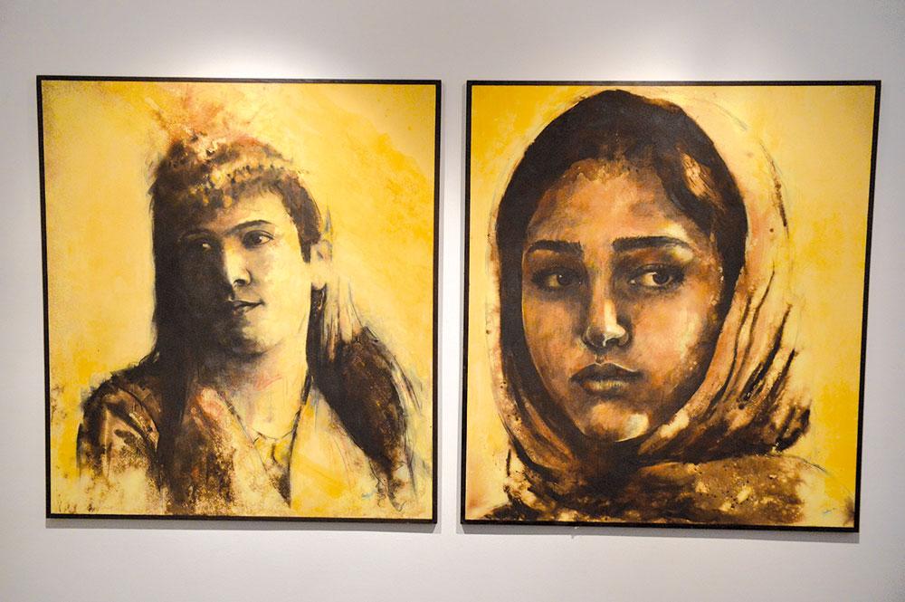 Les toiles de de l'artiste Nourredine Ouardhim