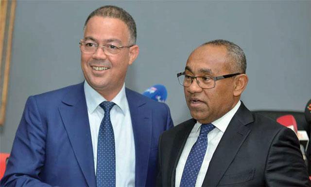 Avec le Président de la CAF, Ahmad Ahmad