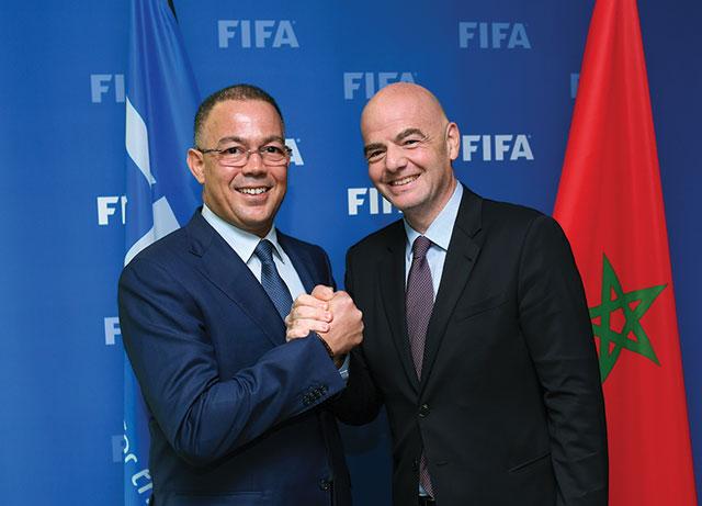 Avec le Président de la FIFA, Gianni Infantino.