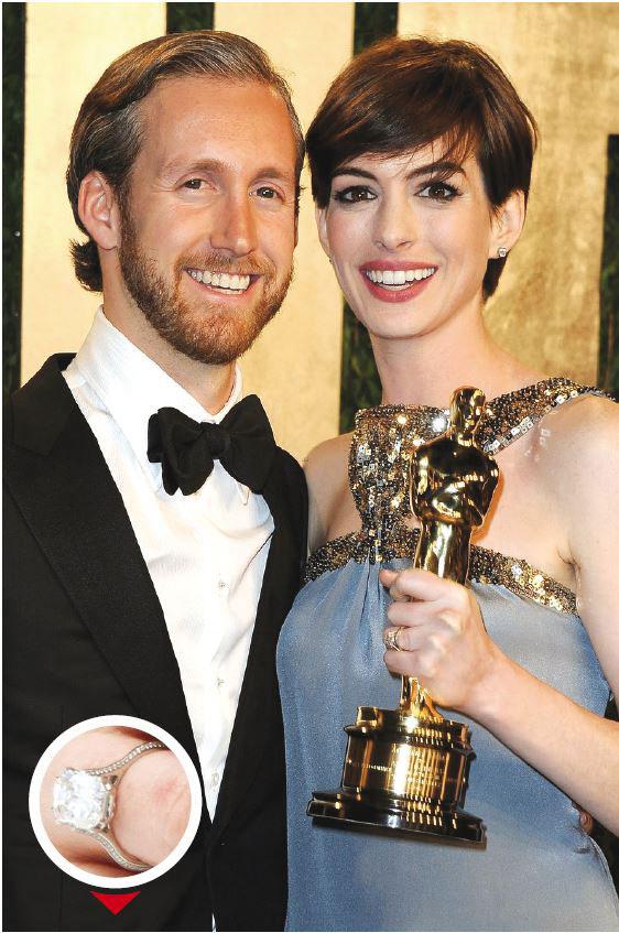 Adam Shulman, le mari de l'actrice Anne Hathaway, a voulu faire original avec une bague à 150.000 euros... qu'il a lui-même dessinée.
