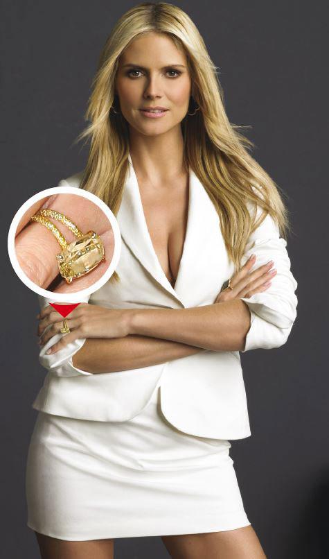 Le chanteur Seal avait déboursé 1,5 million de dollars pour offrir à Heidi Klum une bague avec un diamant de 10 carats. Durée de leur mariage : sept ans.