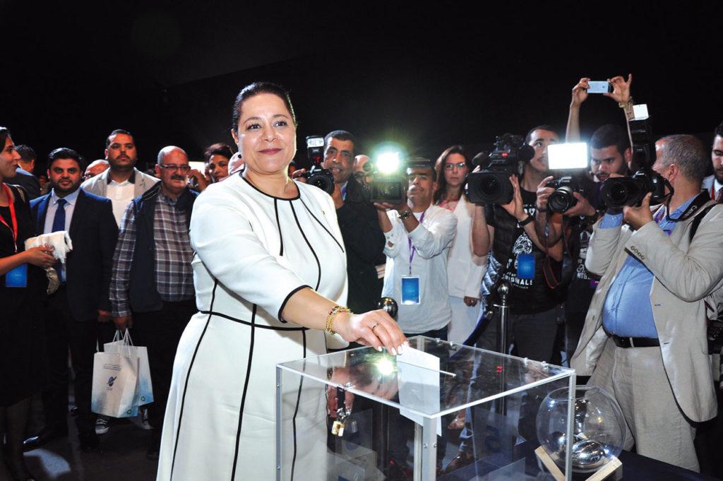 Miriem Bensalah-Chaqroun, Présidente sortante de la CGEM •