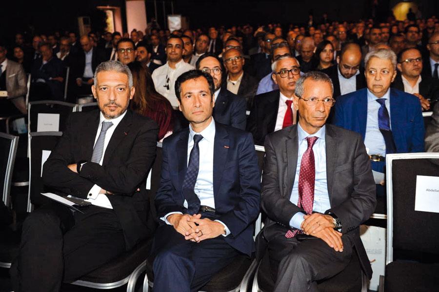 Mohamed Hassan Bensalah, Mohamed Benchaâboun et Ahmed Rahhou
