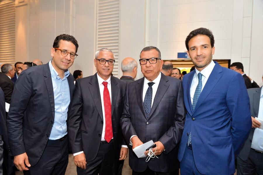 Rafik Lahlou, Khalid Cheddadi, Kamal Lahlou et Mehdi Tazi