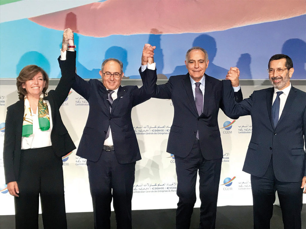 Assia Aiouch Benhida, Hakim Marrakchi, Salaheddine Mezouar et Faiçal Mekouar