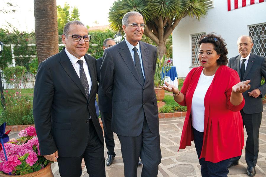 Mme la Consule Générale des Etats-Unis d'Amérique, Jennifer Rasamimanana avec M. Abdelkbir Zahoud, Wali de la région Casablanca-Settat