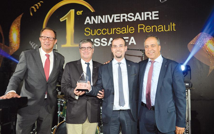 Éric Basset, Hervé Vialle, Souhail Houmaini et Mustapha Abdi