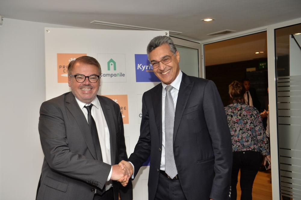 Pierre-Frédéric Roulot, CEO de Louvre Hotels Group et Abbas Azzouzi, président du directoire de H Partners