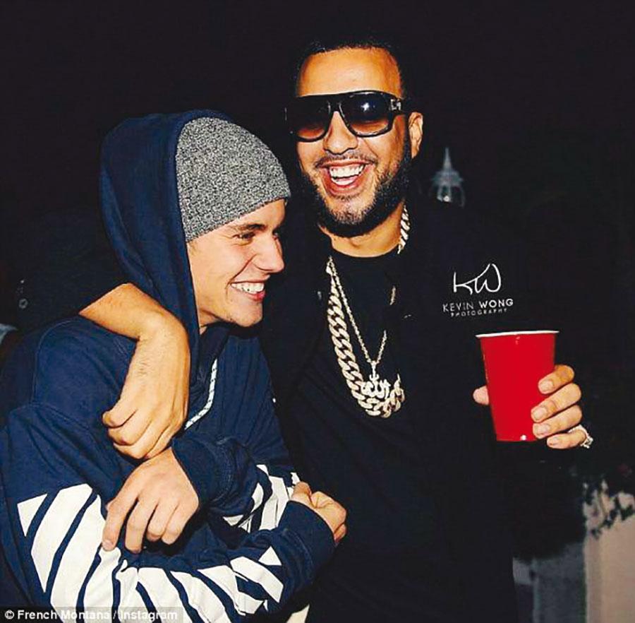 Avec Justin Bieber.