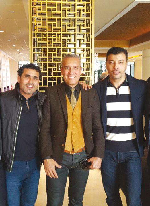 Avec Aziz Bouderbala et Salaheddine Bassir.