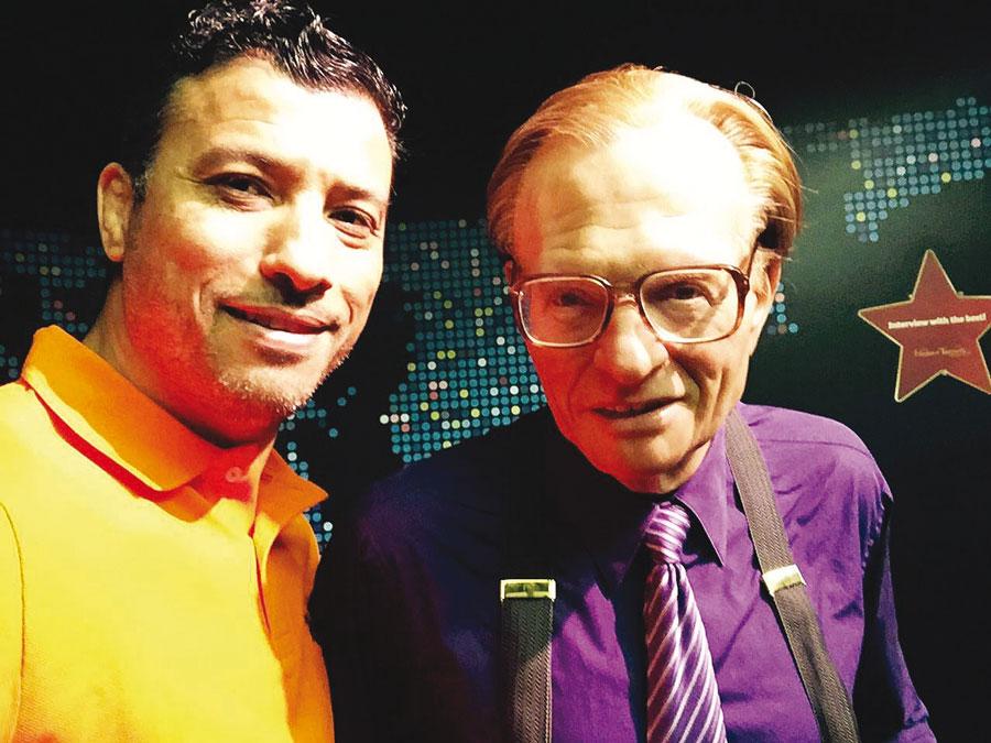 Avec Larry King.