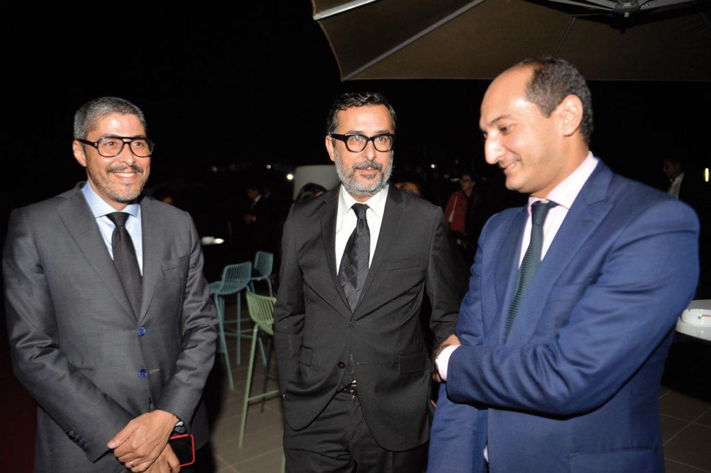 Salim Cheikh entouré de Adel El Fakir et Mohamed Methqal •