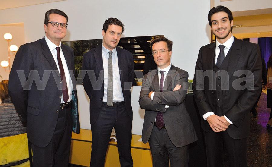 Francesco Frates, Olivier Roset et M. le Consul Général de France à Casablanca, Arnaud de Sury