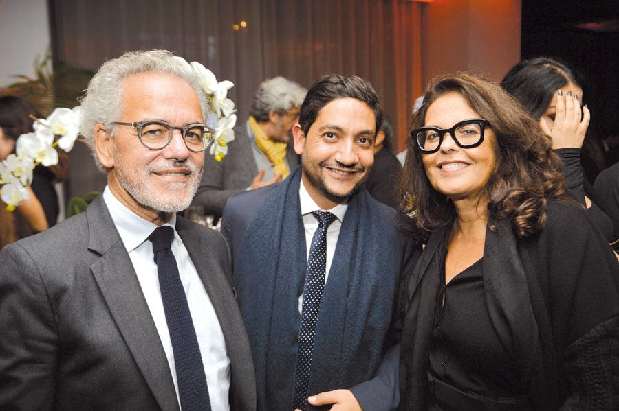 Jaouad Hamri, et son épouse en compagnie de Moulay Driss Mandry