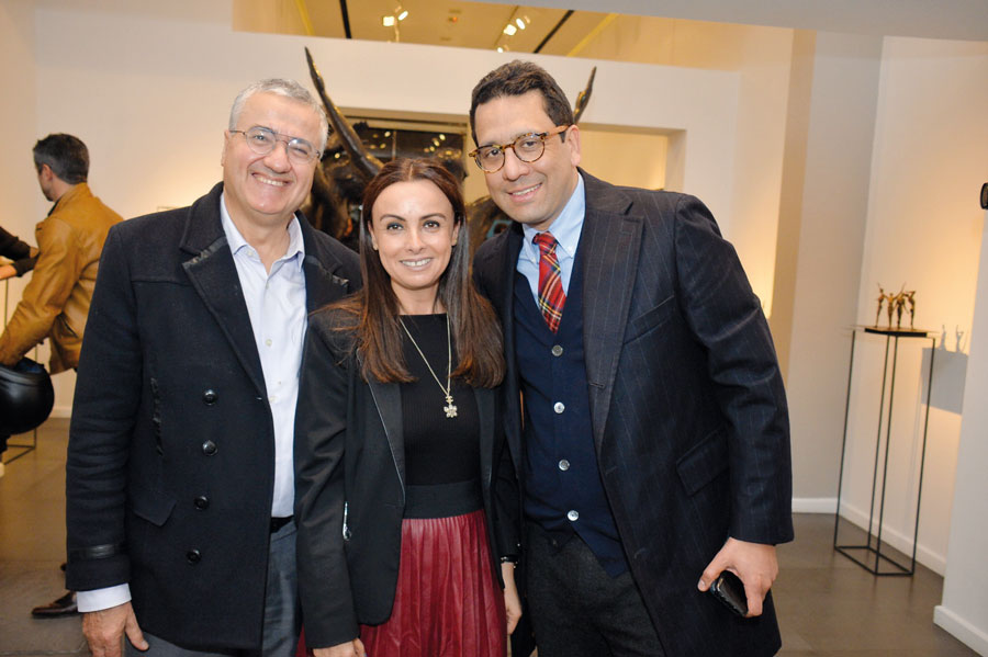 M. Harouchi, Mme Boutaleb et Rafik Lahlou