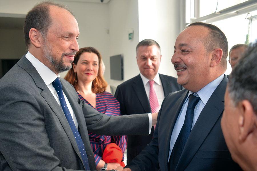 Mohammed Jazouli Ministre délégué chargé de la coopération africaine et Mohammed El Araaj, Ministre de la culture et de la communication •