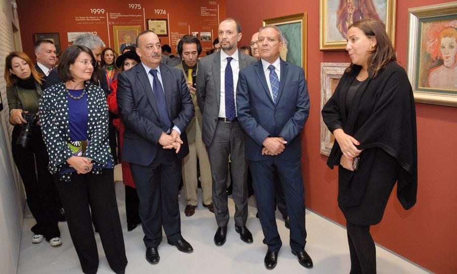 Touria El Glaoui présente l'exposition
