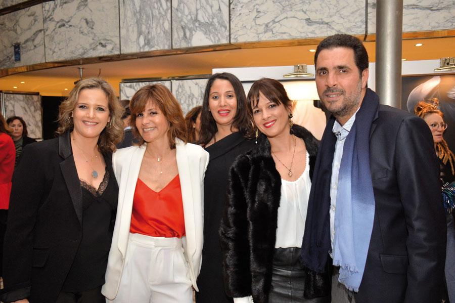 M. et Mme Taktak, Zineb Debargh, Maria Mahi en compagnie de Misha Tazi •