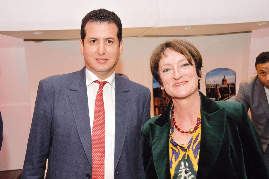 Abdelhamid Bernoussi et Agnés Lauren