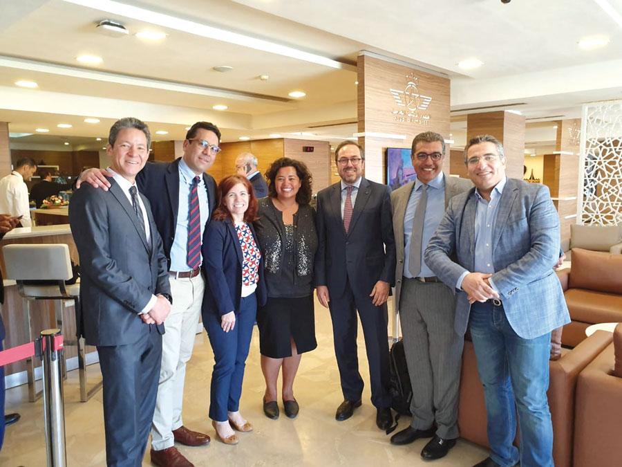Othmane Bekkari, Rafik Lahlou, Jennifer Rasamimanana, consule générale des États-Unis à Casablanca, Abdelhamid Addou, président de Royal Air Maroc