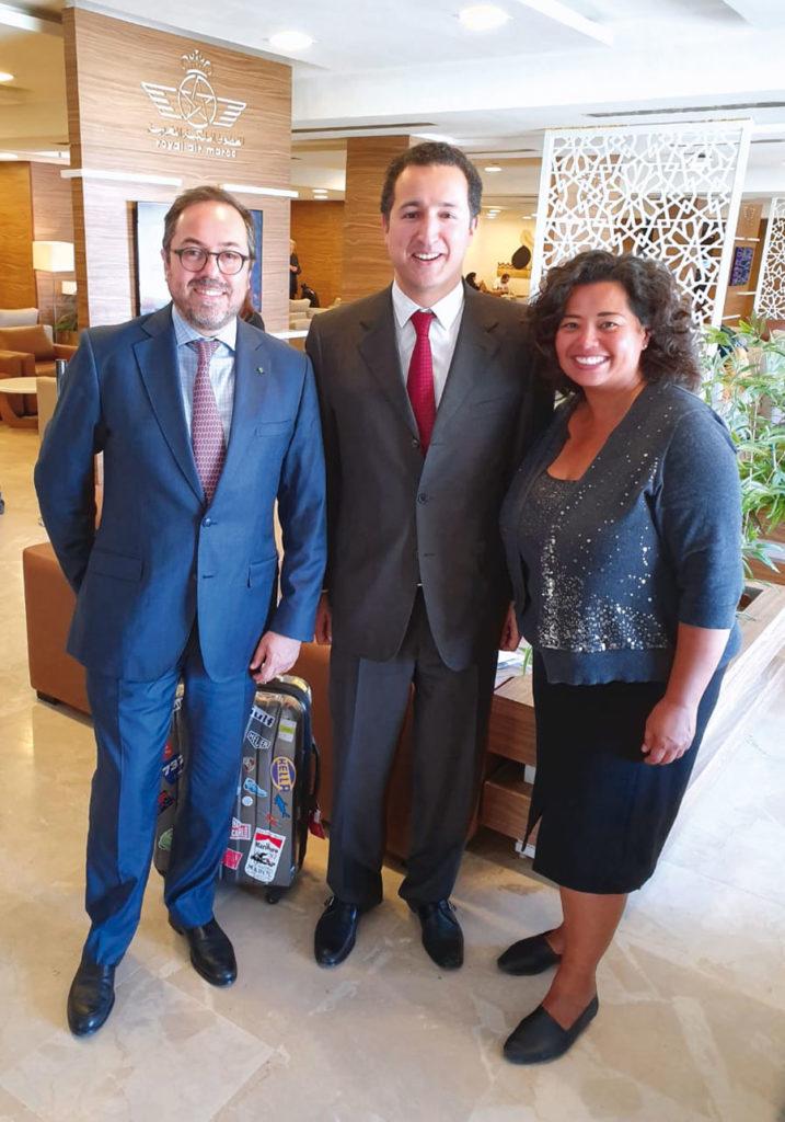 Abdelhamid Addou, Othmane El Ferdaous, Secrétaire d'Etat chargé de l'investissement et Jennifer Rasamimanan