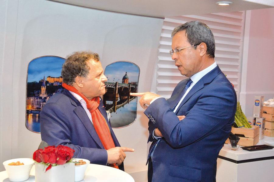 Mehdi Qotbi et Abdellatif Zaghnoun
