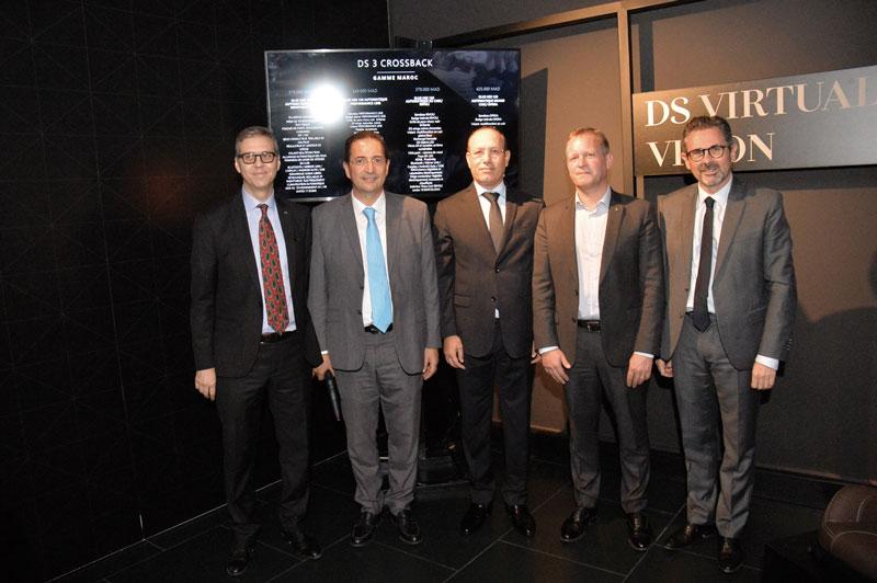 Hamid Berrada, Khalid Kabbaj, Tarafa Marouane, Arnault Ribault et Yves Peyrot Des Gachon