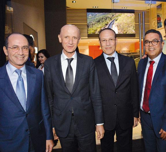 Noureddine Bensouda, Zouhair Chorfi, Tarafa Marouane et Hassan Boulaknadel
